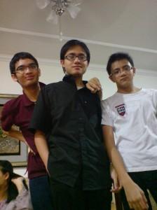 tiga jejaka (my cousins)